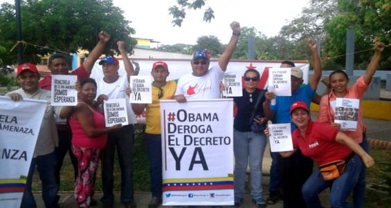 Apureños apoyan campaña contra OBAMA 23-03-2015