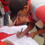Guasdualiteños firman por la Patria 08-04-2015